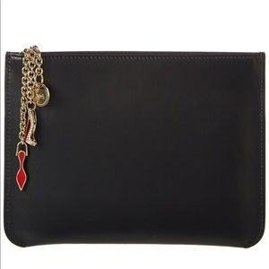 Auth Christian Louboutin Loubicube Pouch